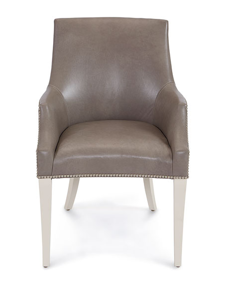 Keeley Taupe Leather Chair