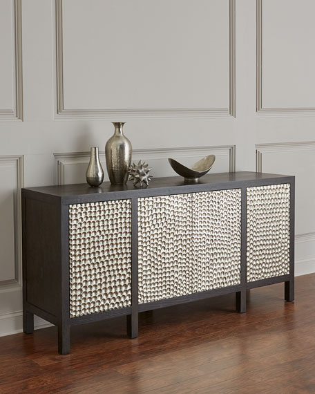Bernhardt Beauville Silver-Wrapped Entertainment Console