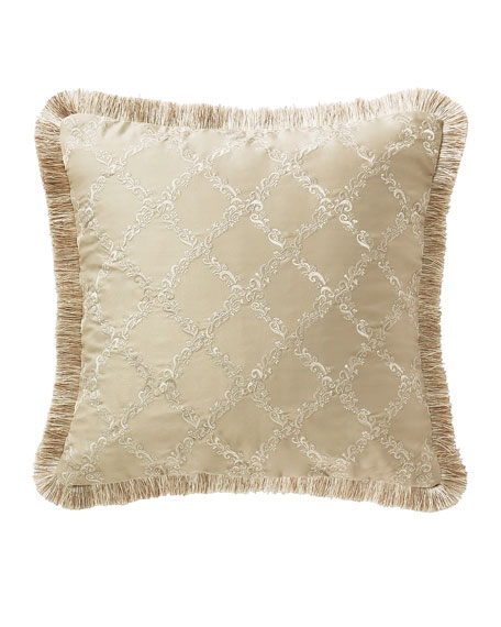 """Waterford Annalise Square Decorative Pillow, 18""""Sq."""
