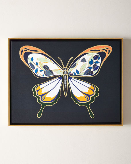 Luxe Butterfly I Giclee, 24 x 18 and