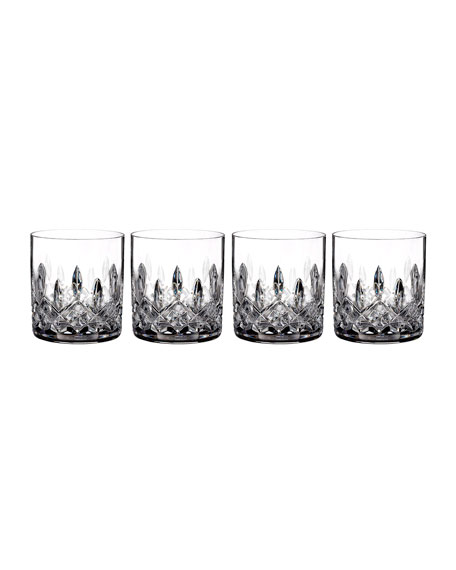 Waterford Crystal Lismore Straight-Sided Double Old-Fashioned Glasses, Set of 4