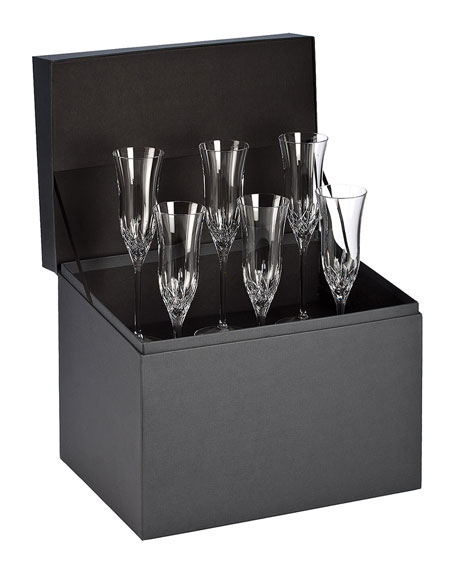 Waterford Crystal Lismore Essence Flutes, Set of 6