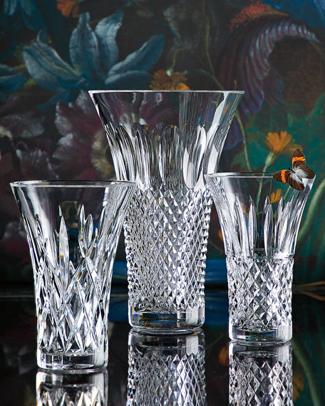 """Waterford Crystal Tramore Flared Vase, 8""""T"""