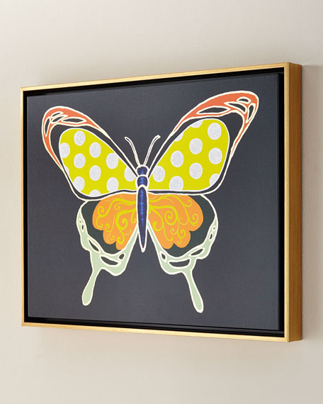 Luxe Butterfly IV Giclee, 24 x 18