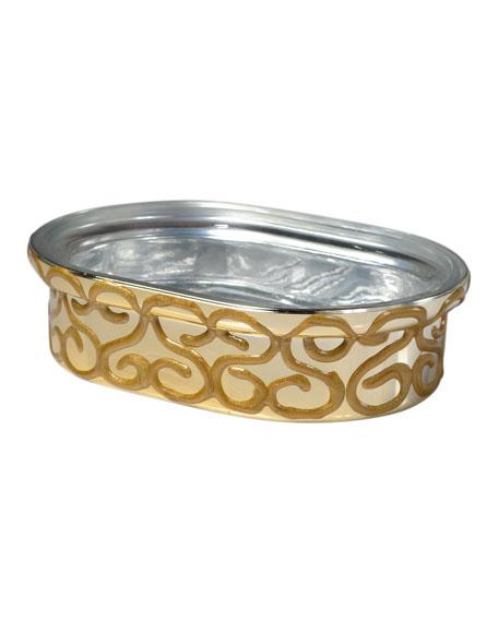 Jamila Glass Soap Dish, Golden