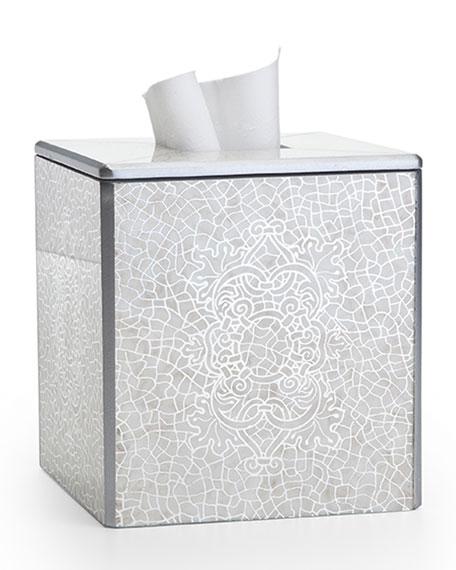 Labrazel Miraflores Tissue Box Cover, Silver