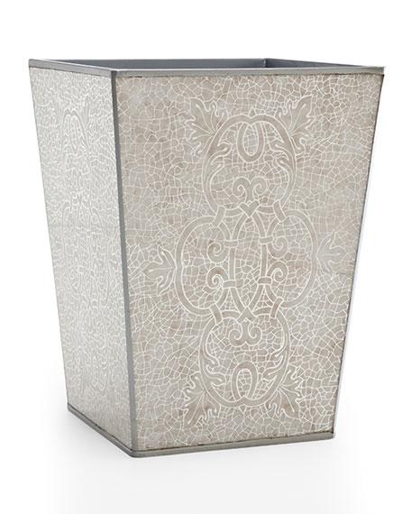Labrazel Miraflores Wastebasket, Silver