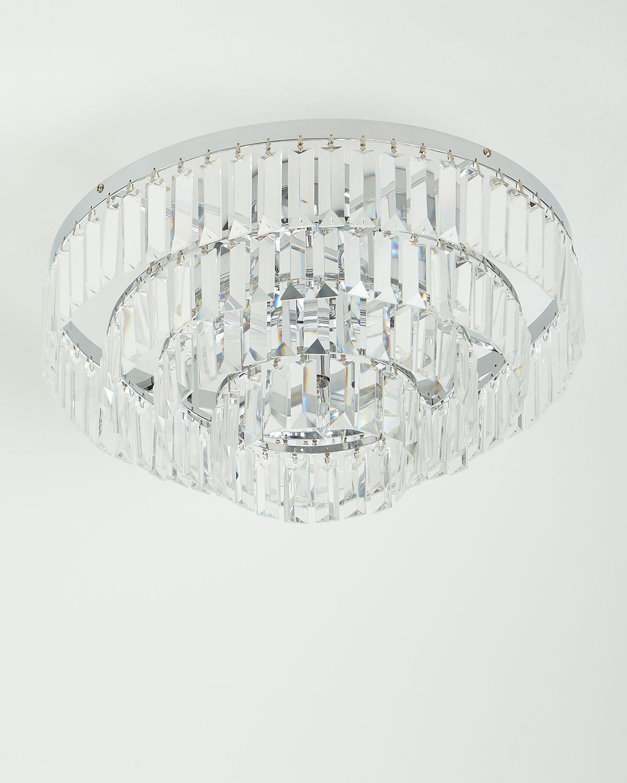 Basilica Crystal Semi Flush Mount Light Fixture