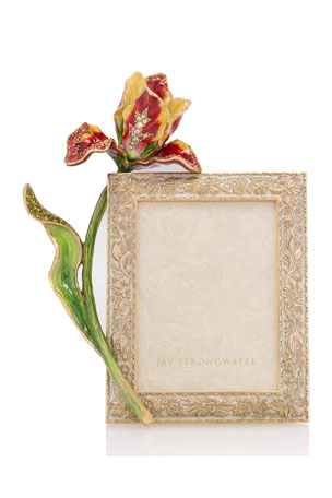 """Jay Strongwater Flora Tulip Picture Frame, 3"""" x 4"""""""