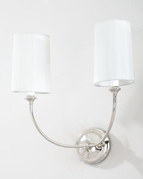 Sylvan 2-Light Polished Nickel Sconce