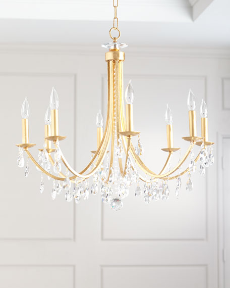Hampton 8-Light Antiqued Gold Chandelier