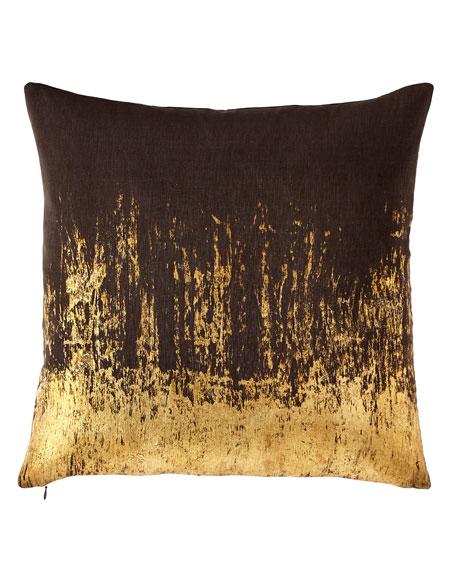Michael Aram Distressed Metallic Pillow