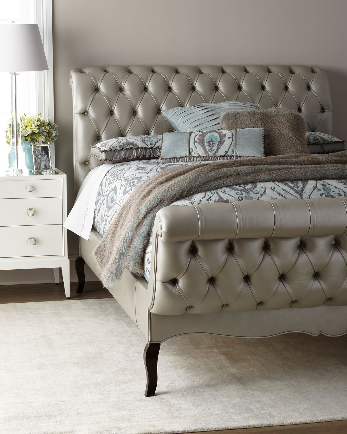 Haute House Duncan Fife Leather King Bed