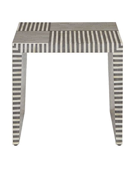 Interlude Home Farrah Bone Inlay Side Table