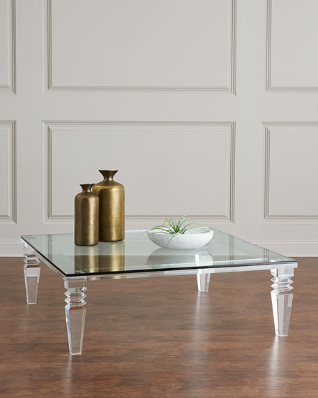 Interlude Home Christelle Large Acrylic Coffee Table