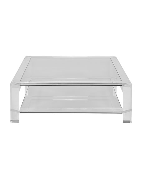 Landis Acrylic Square Coffee Table