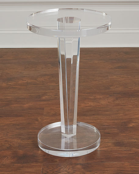 Interlude Home Lisette Acrylic Round Side Table