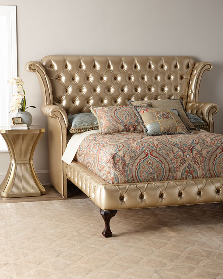 Champagne Carter Queen Bed