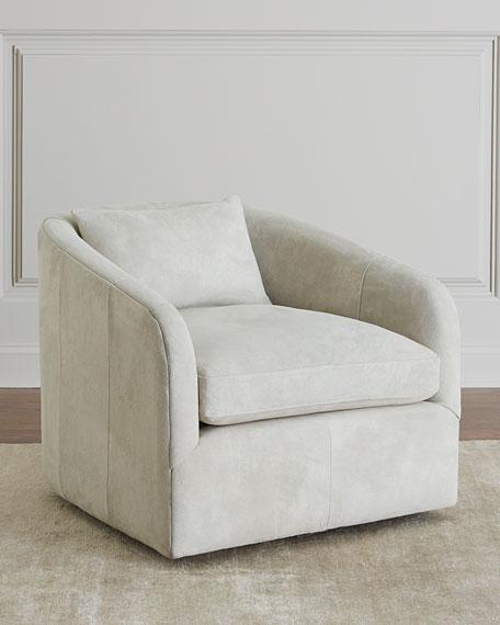 Autumn Suede Swivel Chair