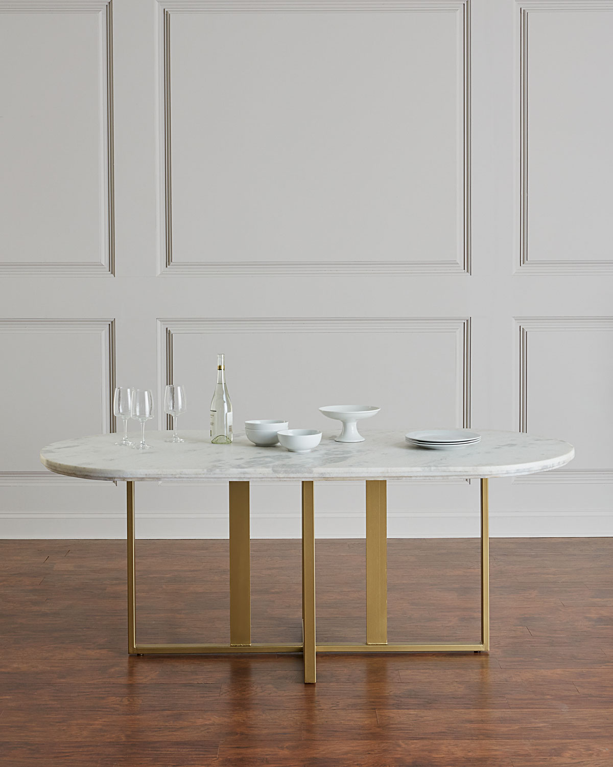 Superb Dylia Marble And Brass Oval Dining Table Interior Design Ideas Tzicisoteloinfo