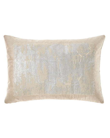 Michael Aram Distressed Metallic Lace Pillow