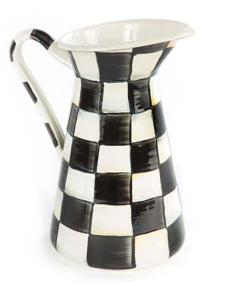 MacKenzie-Childs Courtly Check Practical Pitcher