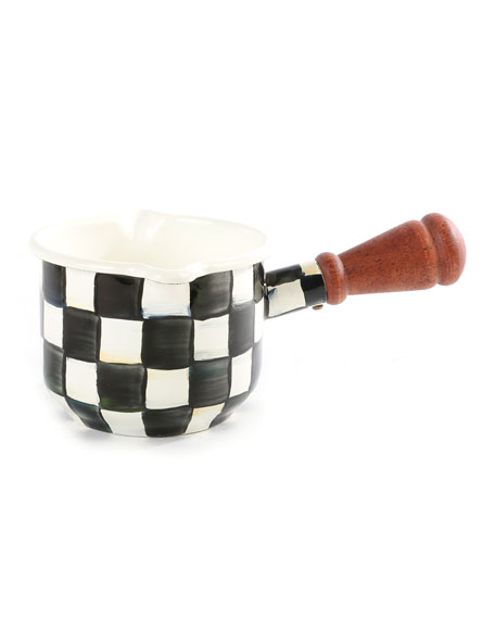MacKenzie-Childs Courtly Check Enamel Butter Warmer