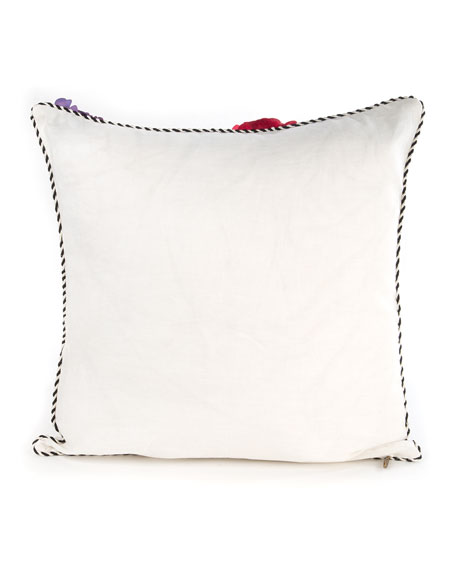 MacKenzie-Childs Covent Garden Floral Square Pillow