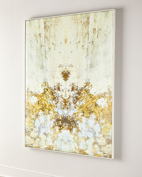 Image 2 of 2: John-Richard Collection Gilded Ivory Giclee on Canvas Wall Art