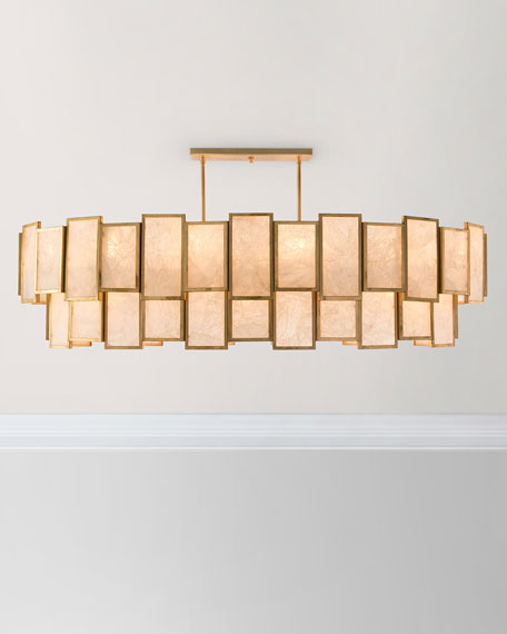 John-Richard Collection Calcite Panel 21-Light Pendant