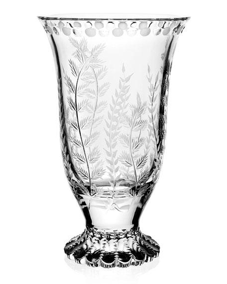 """William Yeoward Fern Flower Vase, 10"""""""