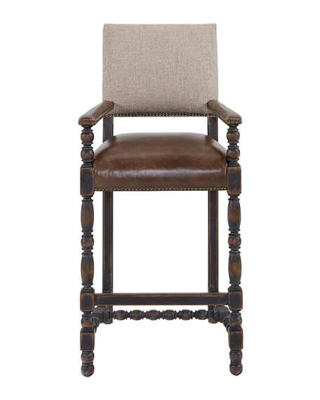 Casella Leather Bar Stool
