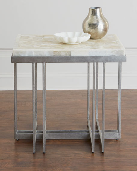 Thiago Onyx Top Side Table