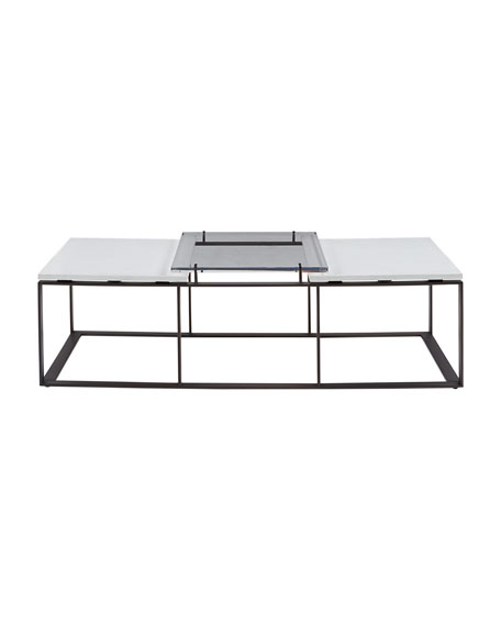 Emmeline Metal and Acrylic Coffee Table