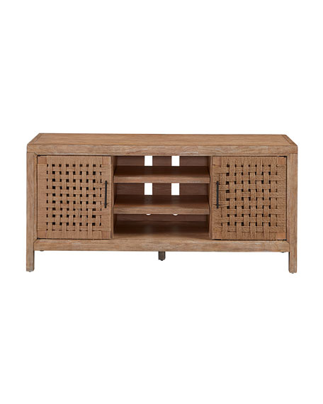 Ella Basket Weave Entertainment Console