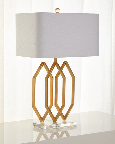 Image 1 of 2: Prescott Triple Table Lamp