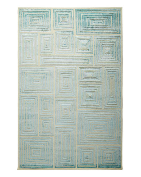 Blocks Hand-Knotted Rug, 6' x 9'