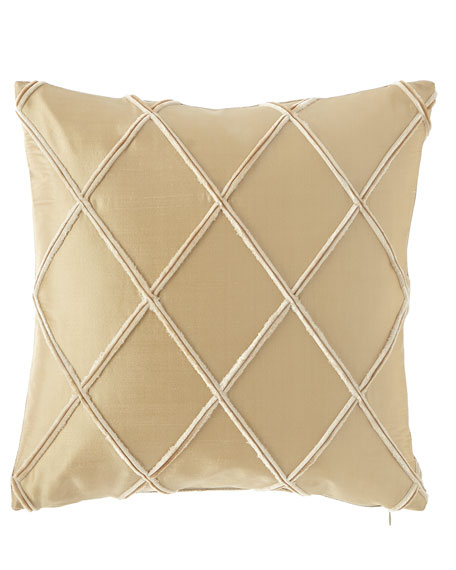 "Austin Horn Collection Laurel Silk Pillow, 17""Sq."