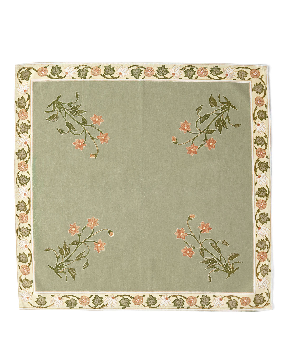 Handprint Garden Sage Napkins, Set of 4