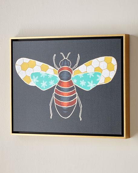 """Luxe Bee II Wall Art, 24"""" x 18"""""""