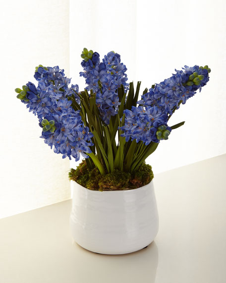 John-Richard Collection Blue Hyacinth Faux Floral Arrangement