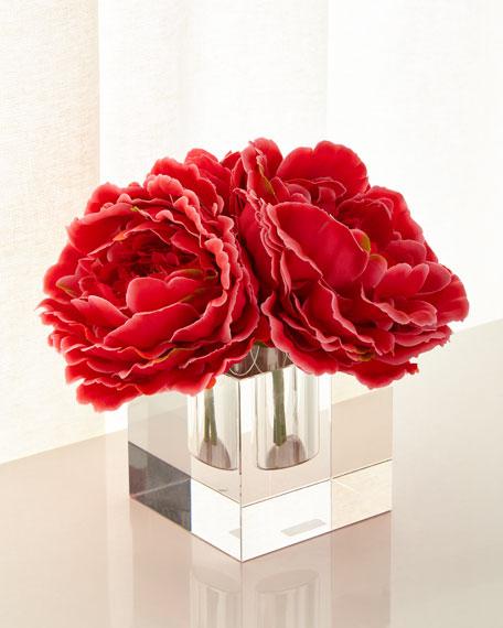 John-Richard Collection Sparkling Peonies Faux Floral Arrangement