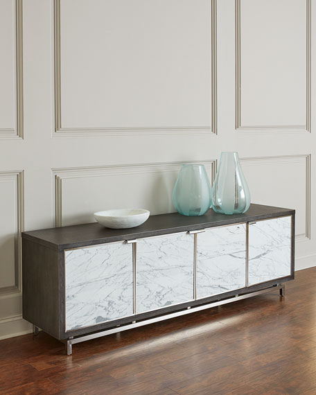 Laramie Marble Door Entertainment Console