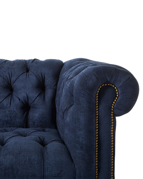 Massoud Kniles Tufted Seat Chesterfield Sofa - 94""