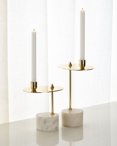 John-Richard Collection Counter Balanced Candleholders, Set of 2