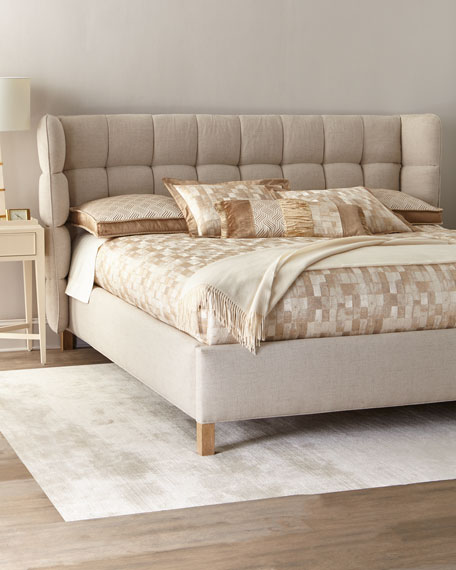 Maya Tufted Queen Shelter Bed