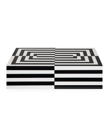 Jonathan Adler Op Art Large Stacking Box