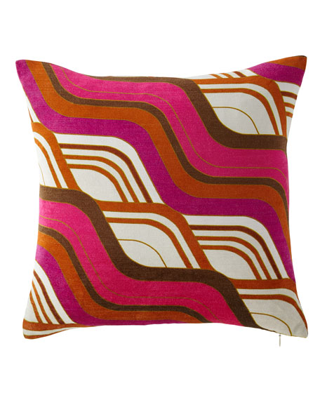 Jonathan Adler Milano Mod Tide Pillow, Orange/Pink