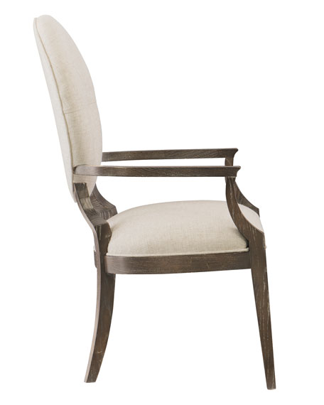 Clarendon Oval-Back Arm Chair, Pair