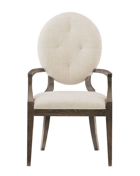 Bernhardt Clarendon Oval-Back Arm Chair, Single